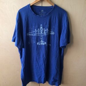 Tori Richard sz 2XL airplane t-shirt 100% cotton